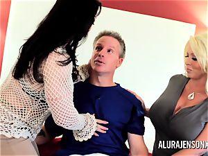 Alura Jenson mummy three way pound with Brandi May