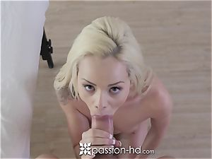 PASSION-HD Elsa Jean kneaded and penetrated with pop-shot