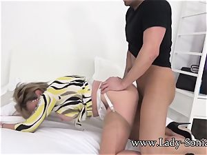 Spanish Fly In dame Sonia's Tea Gets Her crazy As fuck