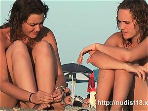nudist beach hidden cam movie with astounding nudist teenagers