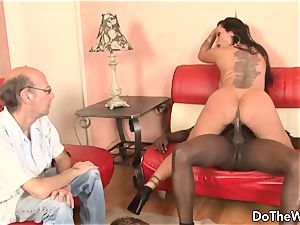 scorching milf adult movie star takes massive ebony beef whistle for hubby