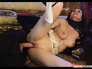 Tina kay has meaty stream on her mind-blowing super-cute face from frankenstein