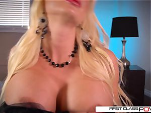 FirstClassPOV-Summer Brielle inhale a yam-sized beef whistle, enormous boobs