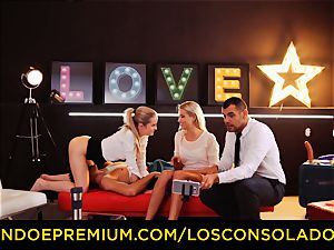 LOS CONSOLADORES - brilliant blondies sixty-nine in group fuck-a-thon
