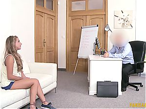 Russian bombshell Sofi Goldfinger boinked by the casting agent