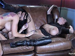 Romi Rain super-hot lesbo hook-up with Abigail Mac