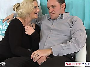steamy wife Phoenix Marie gets rosy snatch torn up