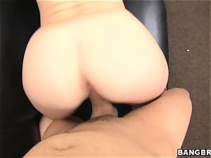 black-haired female getting ravaged in the casting
