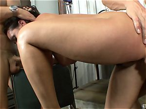 magnificent black-haired with massive boobies Charley pursue