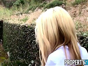 PropertySex light-haired realtor tricked into fuck-fest on camera