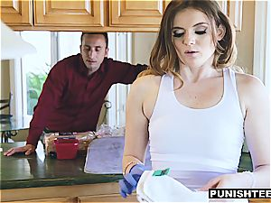 Uncle trains his misbehaved niece