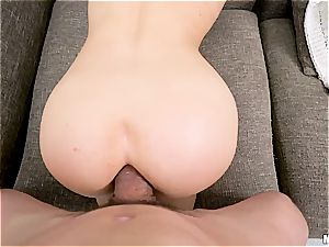 A stud with a immense pecker makes her backside entirely exposed